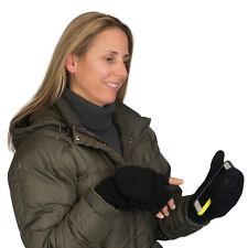 Evelots Fingerless Mitten Gloves, Comfortable & Warm Winter Gloves, Black