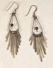 Stunning VNT Old Pawn Native American Tourmaline Multi Dangle Hook Earrings!