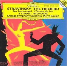 STRAVINSKY: The Firebird CD; 1993 DG (BMG) Boulez, Chicago SO; Fireworks