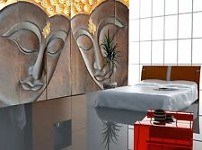 Photo Wallpaper Face of a Buddha-Wood  WALL DECOR PAPER POSTER FREE PASTE