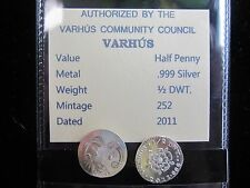 "Tiny Country of VARHÚS-1/2 Pennyweight -.999 Pure Silver- ""252 Minted Worldwide"""