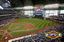 Milwaukee Brewers MILLER PARK GAMEDAY Official MLB Stadium Wall POSTER
