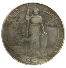 More details for 1905 king edward vii one florin / two shillings coin - great britain scarce date
