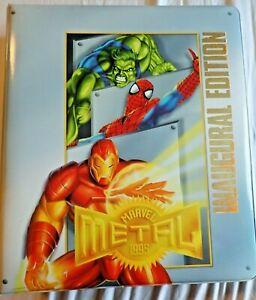 Marvel Metal 1995 Fleer LOT - BASE SET, SILVER FLASHERS, GOLD BLASTERS + BINDER