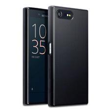 Original Sony Xperia X compacto caso Delgado Protectora TPU Gel Tech S Agarre Negro
