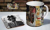 Jean Michel Basquiat Tea / Coffee Mug Coaster Gift Set