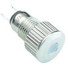 weiß Vandal Widerstansfähig 8mm Metall LED Indikator IP65