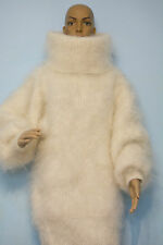 NEW Mohair Sweater Longhair 100% Goat Down soft VERY WARM Turtle neck Pullover