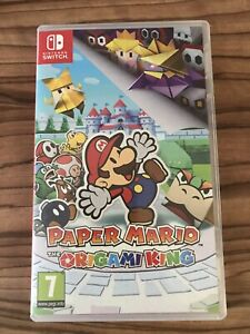 Paper Mario The Origami King Nintendo Switch Original Case Only