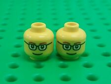 *NEW* Lego Glasses Smile Faces Yellow Heads Minifigures Figs Figures - 2 pieces