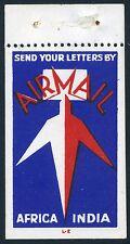 1935c Airmail Propaganda Label - T. Lee Elliott Design