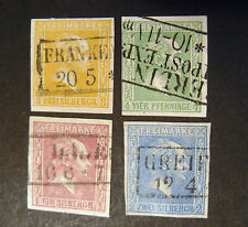 "GERMANIA ,GERMANY ,Old State Prussia 1858 ""Effigie di  Federico IV"" 4 Valori US"