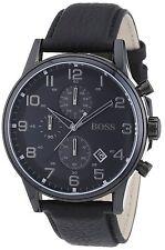 Hugo Boss HB1512567 Reloj De Hombre Pulsera acero inox. cuero negro