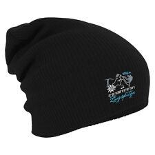Slouch Long Beanie Winterbeanie Muetze mit Einstickung Zugspitze 54482 schwarz
