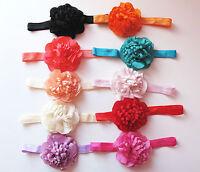 Baby Girls Chiffon Flower Hairband Soft Elastic Headband Hair Accessories Band