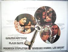Cinema Poster: PLAZA SUITE 1971 (Quad) Walter Matthau Maureen Stapleton