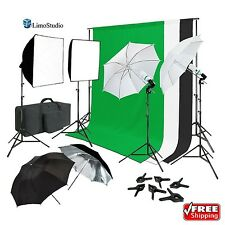 LimoStudio Continuous Lighting Photo Video Studio Kit Reflector Softbox Support
