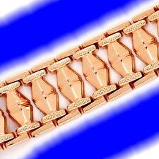 Markenlose Echte Edelmetall-Armbänder ohne Steine aus Rotgold