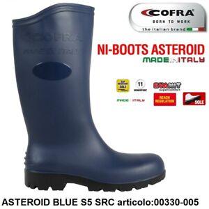 STIVALE ANTINFORTUNISTICA COFRA ASTEROID BLUE S5 SRC PVC ERGO-NITRIL EDILIZIA +
