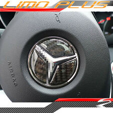 Mercedes Benz C CLA CLS GLC GLE cl. 49mm Carbon Fiber Horn Badge pz26