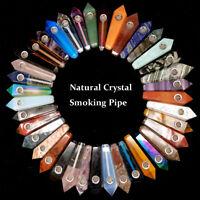 Natural Quartz Crystal Point Quartz Crystal Smoking Pipes Obelisk Healing Wand