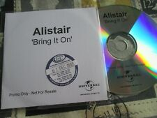 Alistair Griffin – Bring It On Universal Music CDr UK Promo CD Single