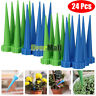 24x Automatic Garden Cone Watering Spike Plant Flower Waterers Bottle Irrigation