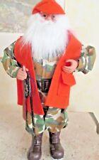 Hunter SANTA Camouflage Orange Vest Home Decor Hunting 16 inch Figurine