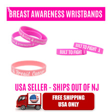 BREAST CANCER AWARENESS MOTIVATIONAL SILICONE WRISTBANDS SPORTS SCHOOL WORK