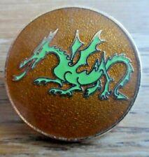 Vintage Welsh Green Dragon Bowmen Nulli Secundus Archery GB pin badge Knebworth