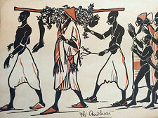 Exposition coloniale Paris 1931 bois gravé Philippe ANDLAUER Afrique