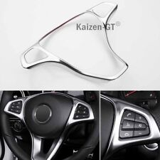 ABS Steering Wheel Panel Cover For Benz C-Class W205 14-17 / GLC-Class X253 15+