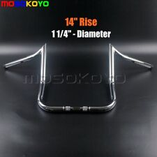 "14"" Rise Ape Hanger Bar 1-1/4"" Monkey Bagger Handlebar For Harley Touring Chrome"