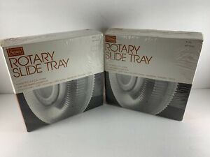 "Lot of 2 - Sears Rotary Slide Trays Holds 100 - 2"" x 2"" Slides #39902 NEW Sealed"