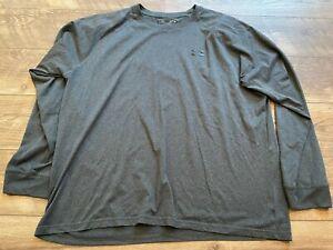 UNDER ARMOUR Gray Long Sleeve Gym Athletic crossFIT Training Shirt mens XL