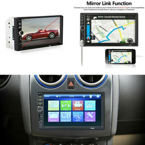7'' 2DIN Touch Car Stereo Radio MP5 Player Bluetooth USB FM AUX+Rear View Camera