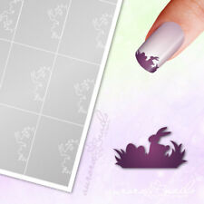 Stencils Airbrush + Nailart o060 Easter Rabbit Bunny French Adhesive