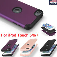 For Apple iPod Touch 5 6 7th Generation Hybrid Slim Shockproof Bumper Case Cover