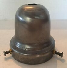 "New 2 1/4"" bell fitter shade holder with screws unfinished steel."