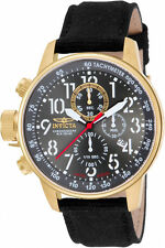 Invicta Men's I-Force Chrono Lefty Gold Tone S. Steel Black Cloth Watch ILE1515A