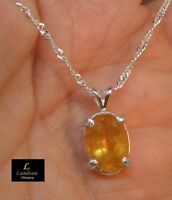 Gorgeous 4.65 ct  Royal Imperial Topaz Silver Pendant
