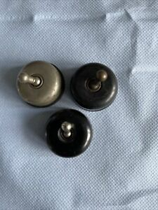 vintage bakelite circular switches- some are Patent no 251757         12