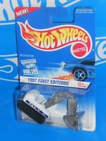 Hot Wheels 1997 First Editions #3 Excavator White & Grey EX-1