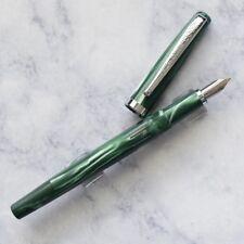 Noodlers Nib Creaper Standard Flex Jade Green Piston Fountain Pen Flex Nib