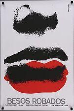 STOLEN KISSES BAISERS VOLES Cuban movie poster 20x30 FRANCOIS TRUFFAUT Azcuy R88
