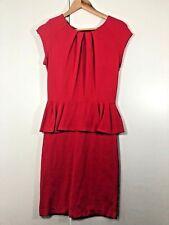 PORTMANS Size 10 Red Frill Casual Work Summer Dress