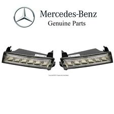 For Mercedes W164 ML X164 GL Pair Set of 2 Bumper Daytime Running Lights Lamps
