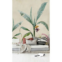 Removable wallpaper Jungle Exotic Floral Tropical Wall Covering Mural