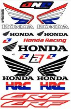 1 SHEET NEW HONDA HRC CAR MOTOCROSS ATV ENDURO BIKE RACING DECAL STICKER SK169