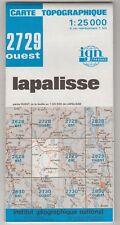 Carte Topographique IGN Lapalisse 2729 Ouest